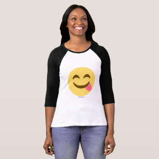 Smiley Emoji con lengua apetito Bueno Camiseta