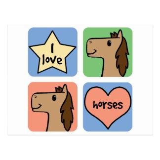 Smiley lindos de los caballos del amor del clip postal