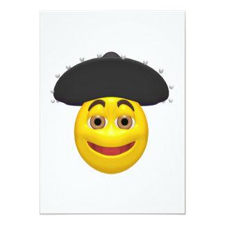 Smiley mexicano invitación 12,7 x 17,8 cm