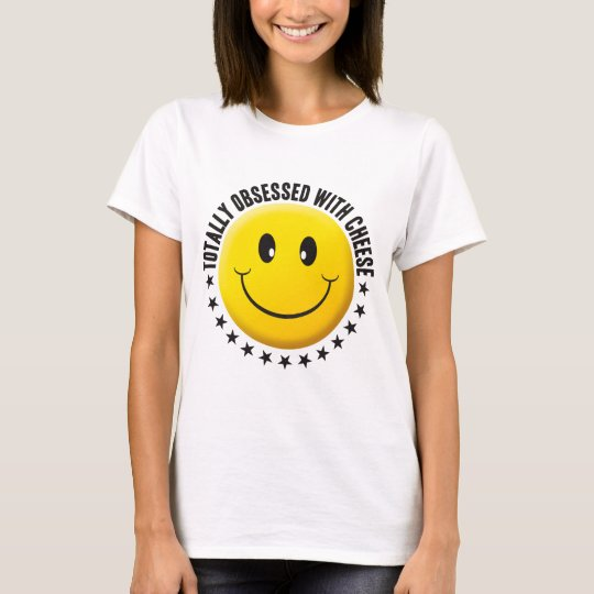 Smiley obsesionado del queso camiseta