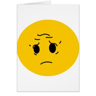 smiley triste tarjeta de felicitación