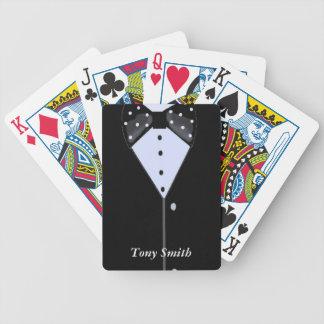 Smoking de los padrinos de boda cartas de juego