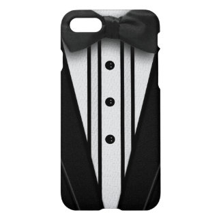 Smoking negro con la pajarita funda para iPhone 7