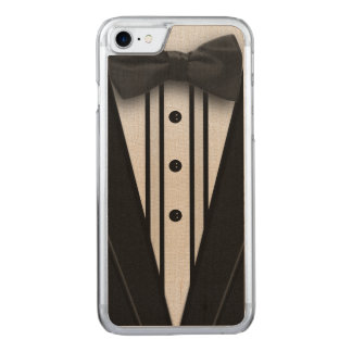 Smoking negro con la pajarita funda para iPhone 7 de carved