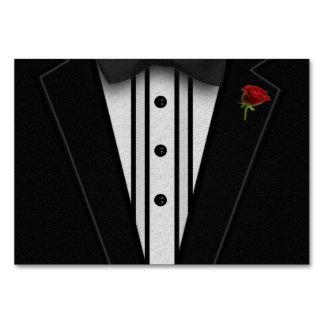 Smoking negro con la pajarita tarjeta