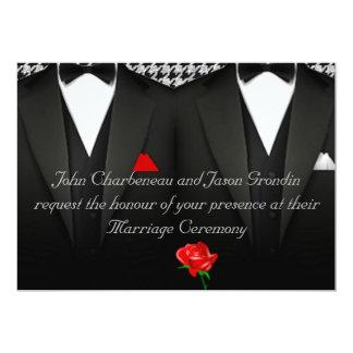 Smokinges elegantes de la invitación gay del boda
