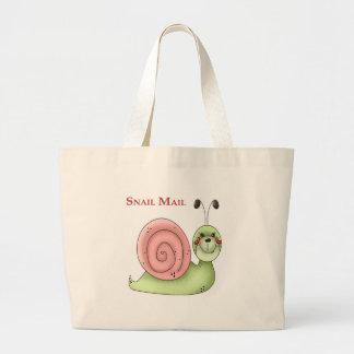Snail mail bolsa tela grande