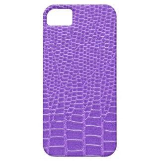 Snakeskin púrpura violeta funda para iPhone SE/5/5s