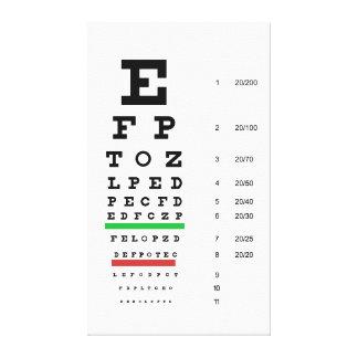 snellen la oftalmología de la carta impresión en lienzo