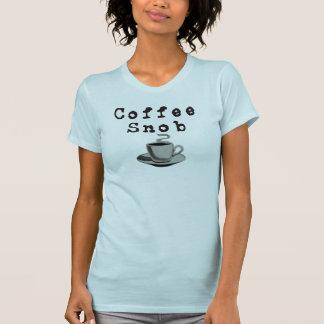 Snob del café (camisetas ligero) camiseta