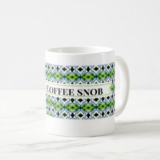 Snob del café taza de café
