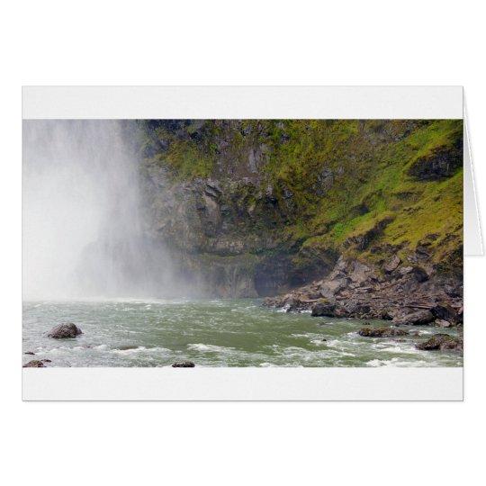 Snoqualmie baja cuenca de río tarjeta de felicitación
