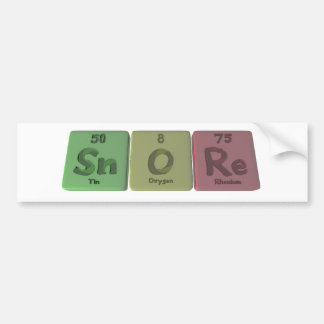 Snore-Sn-O-Re-Tin-Oxygen-Rhenium.png Pegatina Para Coche