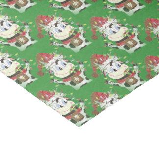 Snowbell el papel seda verde del navidad de la