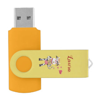 Snowbell en memoria USB del eslabón giratorio de