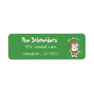 Snowbell las etiquetas del remite del verde de la
