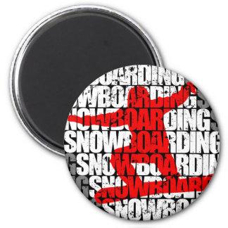 Snowboard #1 (blanca) imán
