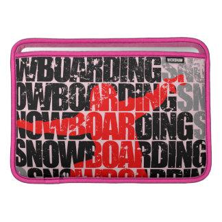 Snowboard #1 (negro) funda para MacBook