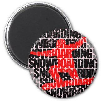 Snowboard #1 (negro) imán