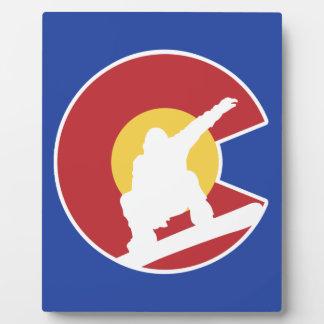 Snowboard de Colorado Placa Expositora