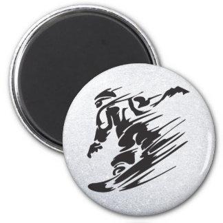 snowboard imán