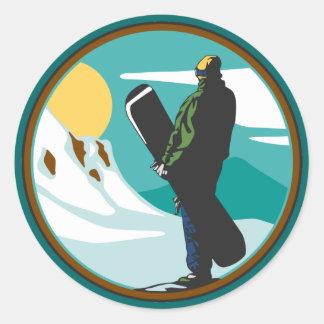 Pegatinas con diseños de snowboard en Zazzle