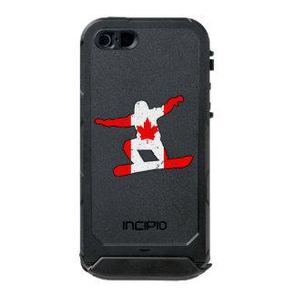 SNOWBOARDER de la hoja de arce (negro) Funda Para iPhone 5 Incipio ATLAS ID