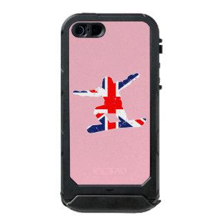 SNOWBOARDER de Union Jack (blanco) Funda Para iPhone 5 Incipio ATLAS ID
