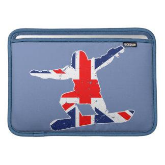 SNOWBOARDER de Union Jack (blanco) Funda Para MacBook