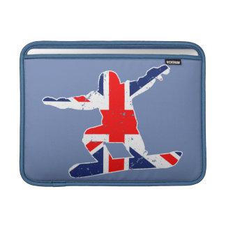 SNOWBOARDER de Union Jack (blanco) Funda Para MacBook Air