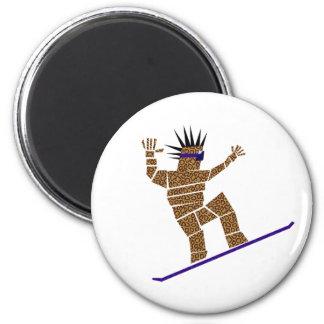 Snowboarder Imán