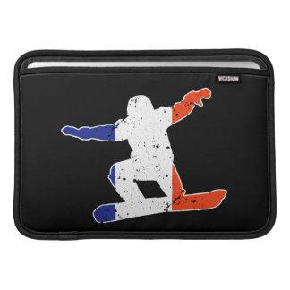 SNOWBOARDER tricolor francés (blanco) Funda Para MacBook Air