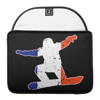 SNOWBOARDER tricolor francés (blanco) Funda Para MacBook Pro