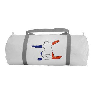 SNOWBOARDER tricolor francés (negro) Bolsa De Deporte