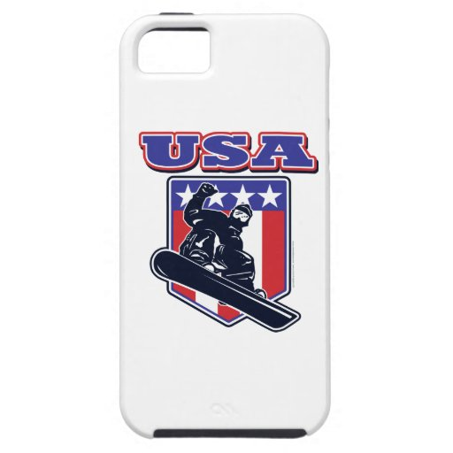 Snowboarders de los E.E.U.U. iPhone 5 Carcasas