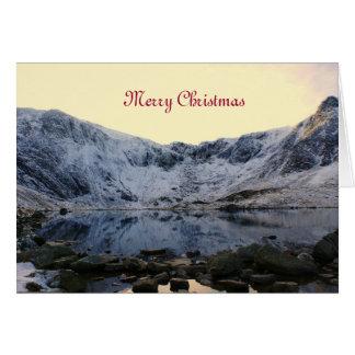 Snowdonia congelado tarjeta pequeña