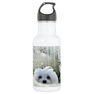 Snowdrop el maltés botella de agua