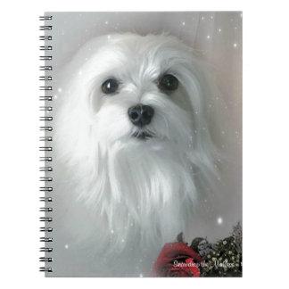 Snowdrop el maltés cuaderno