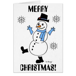 """Snowguy """"FELICES NAVIDAD"""" y tarjeta de la Feliz"""