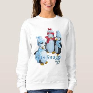Snuggle el tiempo frío relleno del pingüino sudadera