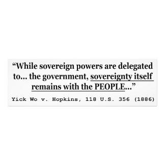 Soberanía Yick Wo v Hopkins los 118 E.E.U.U. 356 ( Impresión Fotográfica