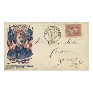 Sobre #2 de la guerra civil tarjetas de visita
