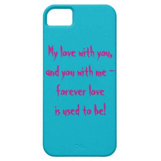 Sobre amor iPhone 5 carcasas