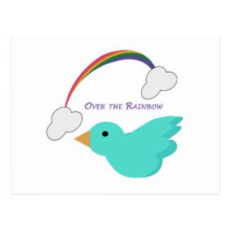 Sobre el arco iris tarjeta postal