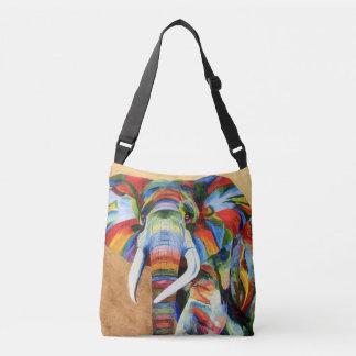 sobre el bolso con el elefante colorido