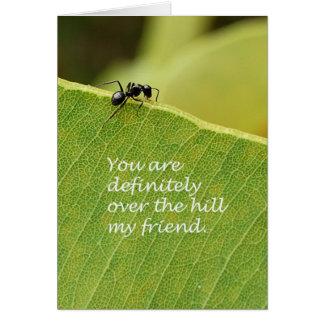 Sobre la colina tarjeta de felicitación