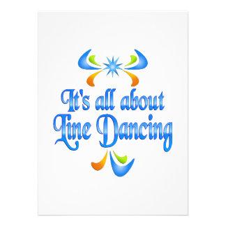 Sobre la línea baile invitación personalizada