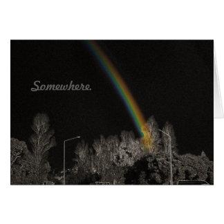 Sobre la tarjeta plegable del arco iris 2