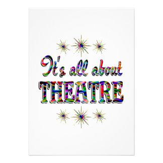 Sobre teatro invitación personalizada
