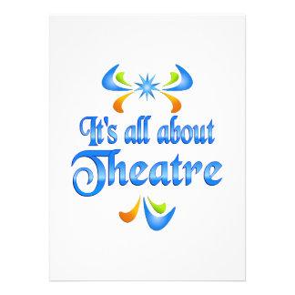 Sobre teatro invitaciones personalizada